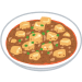 麻婆豆腐「うまいです、栄養あります、ヘルシーです、辛いの好きにもおすすめです、ご飯に合います」