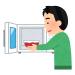【料理】レンジ対応のラーメン鉢にカット野菜と豚肉少々入れて水とプチっと鍋入れてレンチンしたら